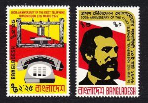 Bangladesh Telephone Centenary 2v SG#76-77