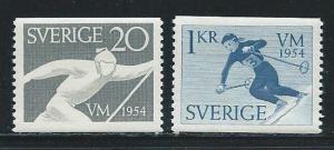 Sweden 462-3 1954 Skiing set MNH