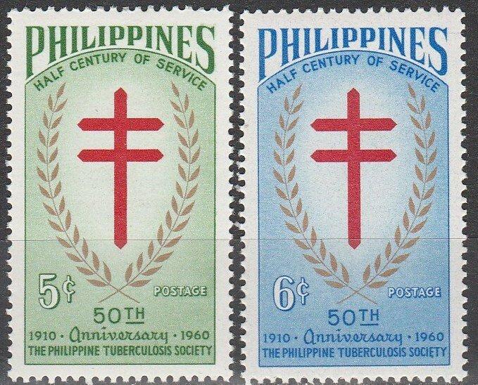 Philippines MNH 819-20 50th Anniversary Philippines TB Society 1960