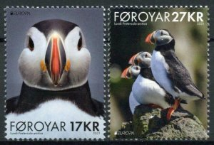 Faroes Faroe Isl Europa Stamps 2021 MNH Endangered Natl Wildlife Puffins 2v Set