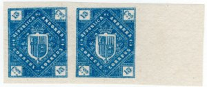 (I.B) Andorra Postal : Arms of The Republic 15c (die proof)