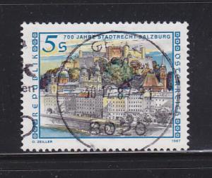 Austria 1392 Set U View of Salzburg (B)