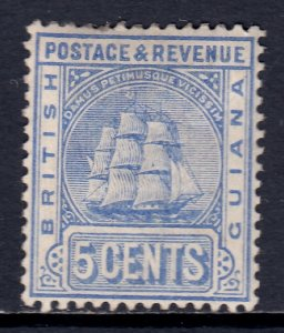 British Guiana - Scott #136 - MH - A couple of short perfs - SCV $3.25