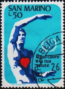 San Marino.1972 50L S.G.948 Fine Used