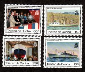 Tristan da Cunha 482-485 Mint NH MNH RMS St Helena!