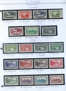 LEBANON  AIRMAIL MNH  SCV $100.25 STARTS @35% OF CAT VALUE