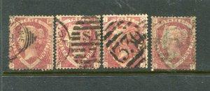 Britain #32 4 of them (Plate #3) cv$260.00