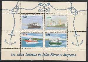 1994 St. Pierre and Miquelon - Sc 604 - MNH VF - 1 MS - Ships