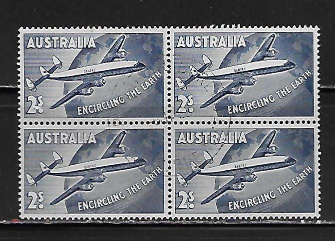 Australia C8 1958 Constellation block of 4 Used