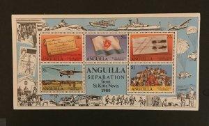 Anguilla 1972,1980 Souvenir Sheet & Strip, MNH, CV $4.40, 2 pics, See Desc.