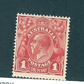 Australia, 21d, King George V Single,**VLH**