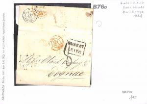B76d 1854 GB Scotland Edinburgh Leith France Cognac Samwells-Covers