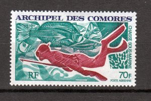 J26954 1972 comoro islands set of 1 mh #c44 sports diving