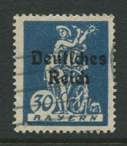 Bavaria -Scott 260 - Deutsches Reich Overprint -1920 - Used - 30pf Stamp
