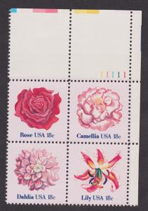 1876 - 1879 Flowers Issue MNH Plate Block UR