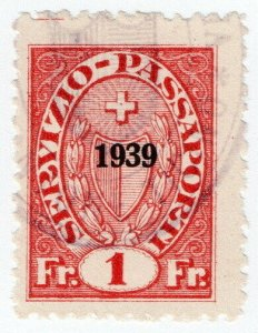 (I.B) Switzerland Revenue : Passport Service 1Fr
