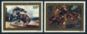 Senegal C136-C137,MNH.Michel 549-550. Paintings:Delacroix.Tiger attacking Horse.