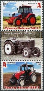 Belarus 2021. Tractors Made in Belarus (I) (MNH OG) Block