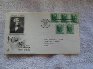 1963 ANDREW JACKSON 1 CENT COIL STAMP FDC SERIES OF 1963