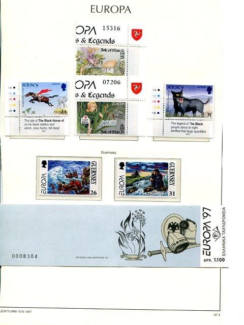 Europa Cept 1997  annual  lot  Mnt VF NH  -  Lakeshore Philatelics