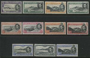 Ascension KGV! 1938-49 various values from 1/2d to 4d mint o.g. hinged
