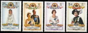 Belize 853-856, MNH, 40th anniversary Wedding of Queen Elizabeth