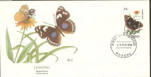 Lesotho FDC SC# 767 Ringed Pansy Butterfly L56
