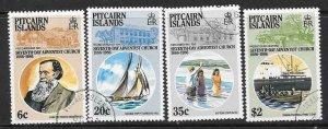 PITCAIRN ISLANDS SG292/5 1986 ADVENTIST CHURCH  FIND USED