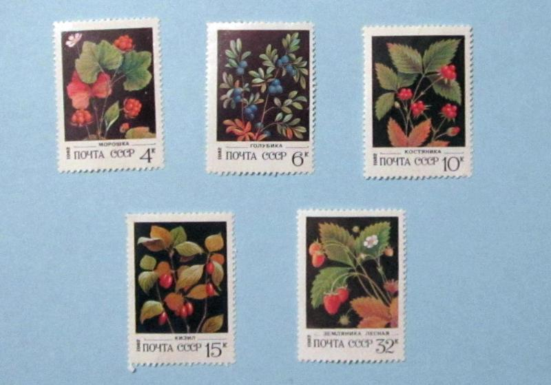 Russia - 5023-7, MNH Set. Various Bushes. SCV - $1.75