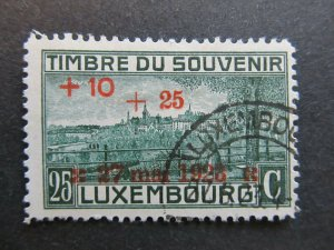 A4P27F121 Letzebuerg Luxembourg Semi-Postal Stamp 1923 25c on 25c + 10c used