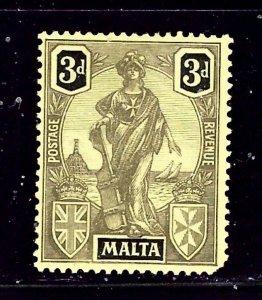 Malta 106 MH 1922 issue short corner writing on back    (ap1623)
