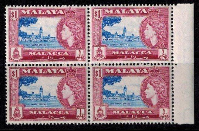 Malacca 53 MNH BLK bright copies Superb