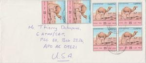 Kuwait 25f Camels (6) c1994 Fahaiheel Center Airmail to APO AE 09821 Izmir, T...