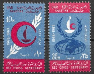 Egypt Red Cross Centenary Set of 1963, Scott N96-N97 MNH