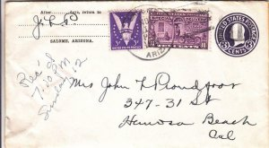 1944, Salome, AZ to Hermosa Beach, CA, Special Delivery, See Remark (8736)