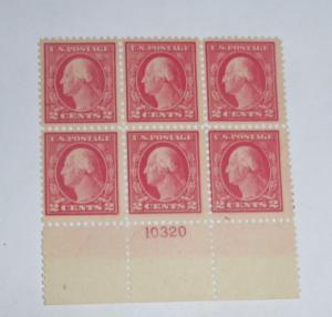 #499 2 cent Washington plate block