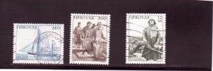 Faroe Islands  Scott#  112-114  Used