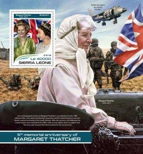 Sierra Leone Margaret Thatcher Stamps 2018 MNH Queen Elizabeth II People 1v S/S
