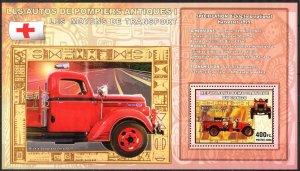 Congo 2006 Old Fire Trucks I Bickle International Harvester 1922 (3) S/S MNH