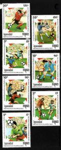 Cambodia-Sc#921-7-unused NH set-Sports-Soccer-Italy-1990-