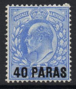 BRITISH LEVANT SG8 1902 40pa on 2½d ULTRAMARINE MTD MINT