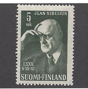 Finland, 249, Jean Sibelius - Composer Single,  **Hinged**