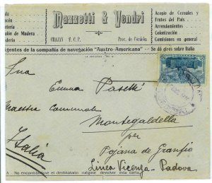 aa3088 - ARGENTINA - POSTAL HISTORY -  ADVERTISING  COVER to ITALY   1910