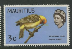 Mauritius - Scott 328 - Birds Definitive Issue -1968 - MNH -Single 3c Stamp