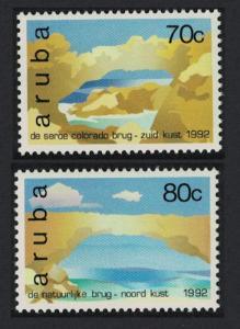 Aruba Natural Bridges 2v 1992 MNH SG#120-121