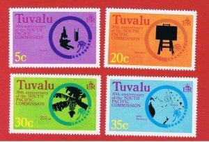 Tuvalu #46-49 MNH OG  Various Scenes   Free S/H