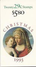 BK211 $5.80 29c Christmas Madonna 1993