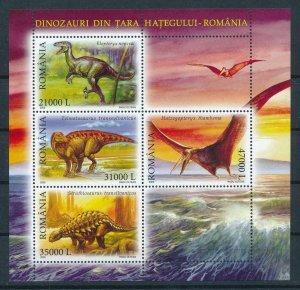 [106395] Romania 2005 Prehistoric animals dinosaurs Sheet MNH