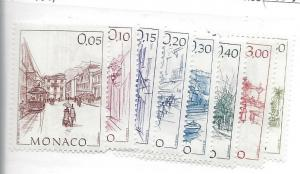 Monaco, 1410-17, Drawings by Hubert Cierissi Singles, **MNH**