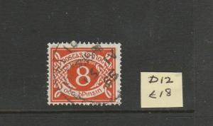 Ireland 1940/70 Postage Due 8d Used SG D12